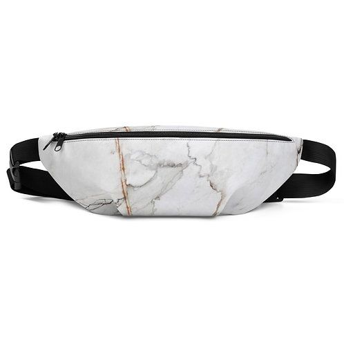 White Gold Marble Fanny Pack