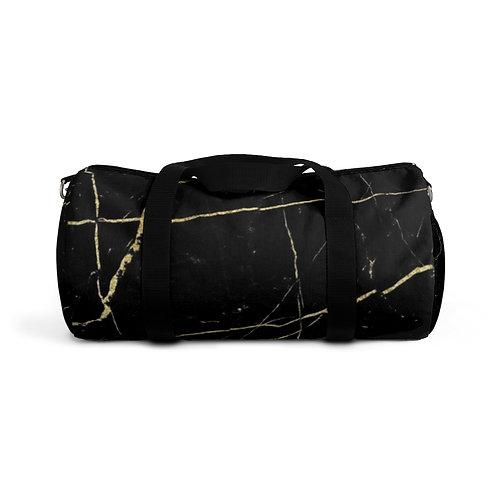 Black Gold Marble Duffel Bag