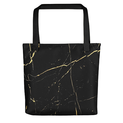 Gold Marble Tote