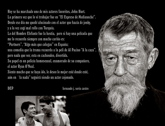 John Hurt,...  Good bye