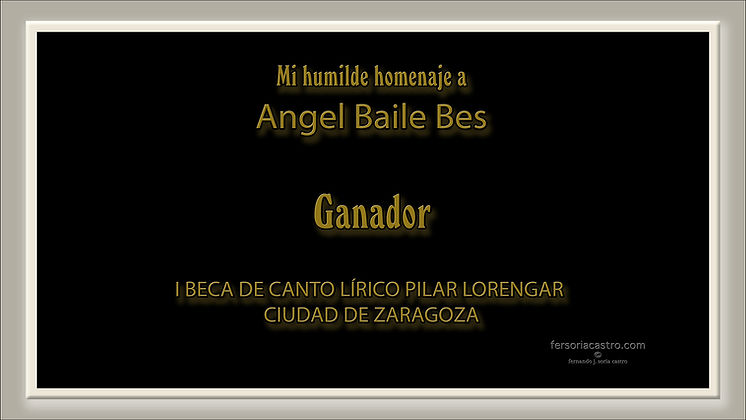 TENOR ANGEL BAILE