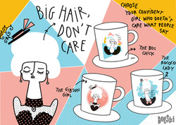 Mug designs Big hair