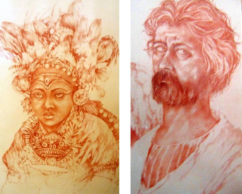 dibujos, saguinas y carboncillo de José Requena Nozal en la web requenanozal.com