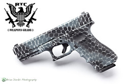 Glock 22 Snakeskin Camo Valor Camo; Blue Titanium, Graphite Black & Satin Aluminum