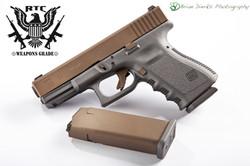 Glock 23 Two Tone Burnt Bronze & Sniper Grey