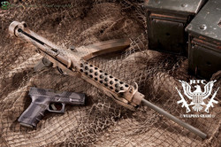Sterling Three Color Freehand Camo Mil OD Green, Desert Sand & Magpul Flat Dark Earth