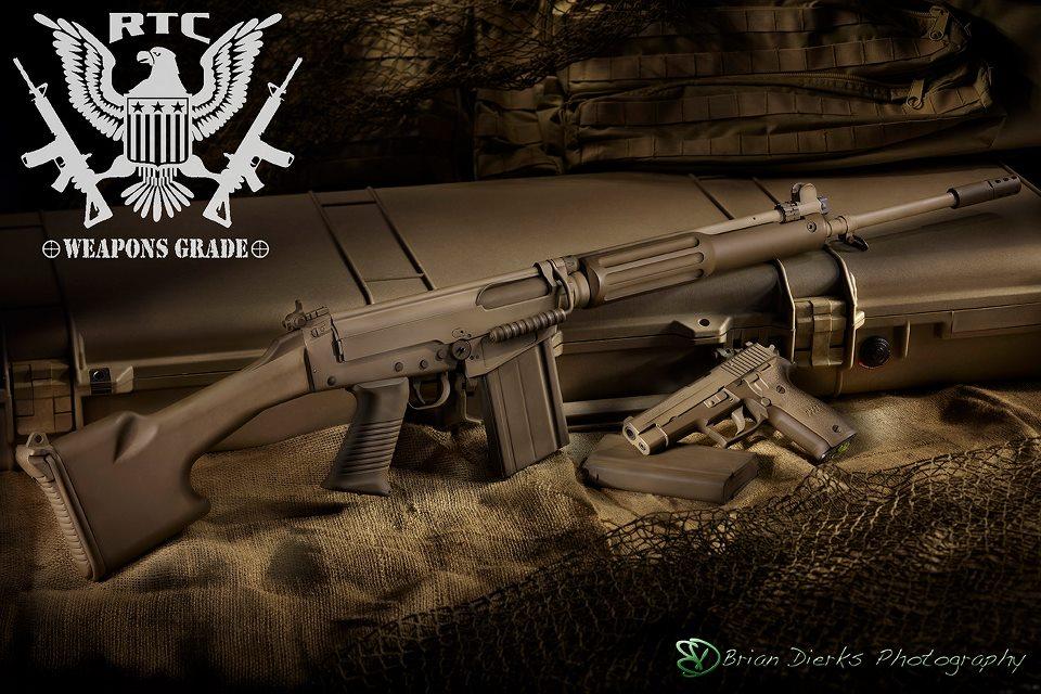 FN-FAL Sig 226 Patriot Brown and Magpul Flat Dark Earth