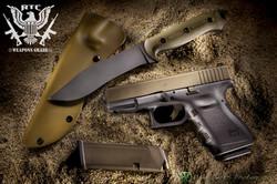 Mike Turner Custom Knife; Burnt Bronze & Sniper Grey