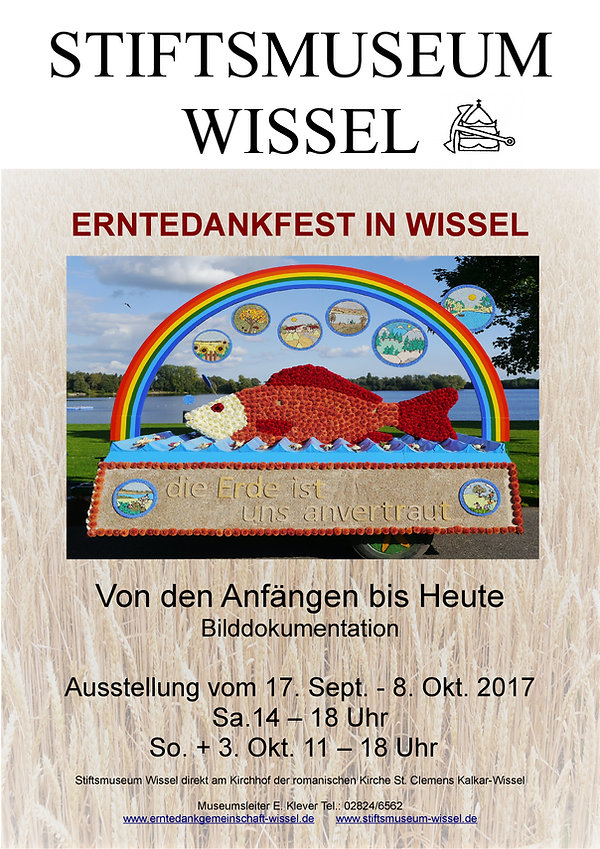 Sonderausstellung im Stiftsmuseum 1997 bis 2017 Erntedankfest in Wissel