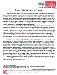 UNL Extension Crabgrass Prevntion Image.