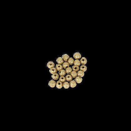24 Perles en bois Pailletées