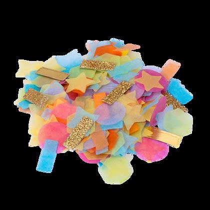 Confettis Multiformes Multicolores