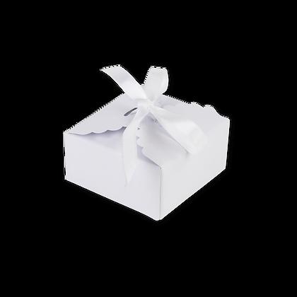 10 Boîtes Festonnées Blanches