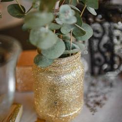 Vase photophore pailletté
