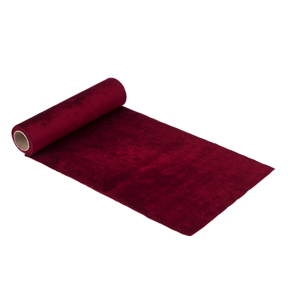 Chemin de table velours rouge