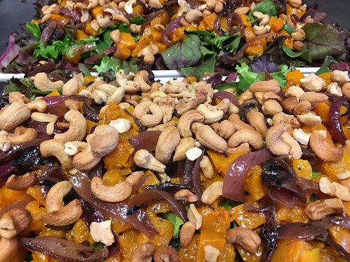 Pumpkin, Fetta, Cashew, Caramelised Onion & Cos Salad