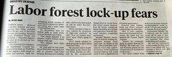 Weekly Times report on forest lock up Se