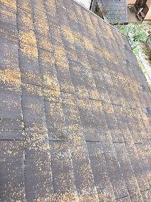塗装の剥がれた屋根
