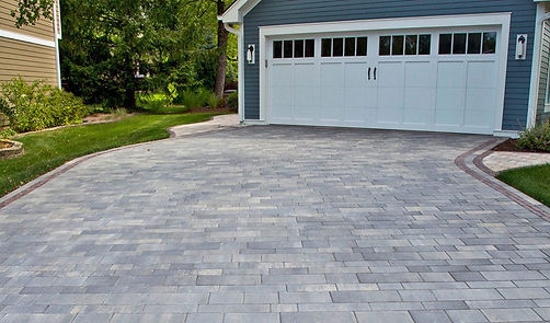 Artline Smooth Unilock Tulsa Steel Mountain Driveway