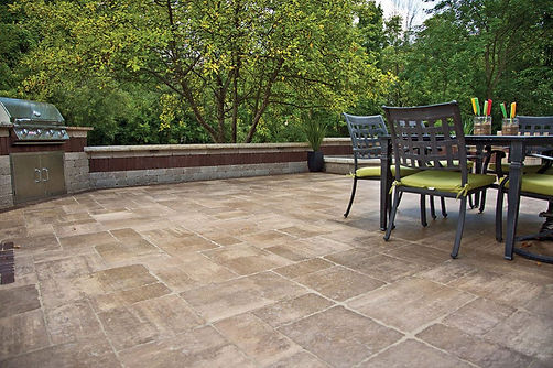 Bristol Valley Unilock Paver Backyard Patio Tulsa