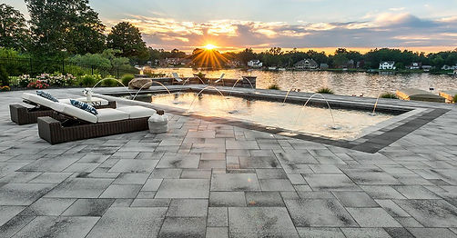 Umbriano Unilock Paver Pool Deck Tulsa