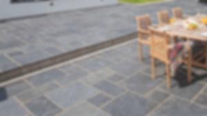 Blue Valley stoe paver backyard patio Tulsa