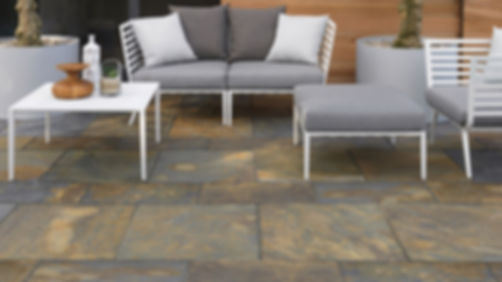 Copperfiedl natural stone paver patio Tulsa