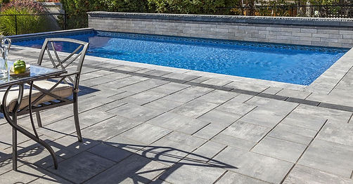 Beacon Hill Smooth Unilock Paver Granite Fusion Pool Deck Tulsa