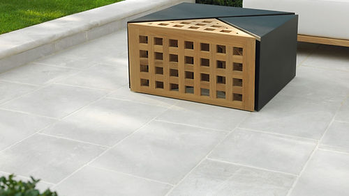 Laurel Grove marble stone paver, coping, & tread backyard patio Tulsa