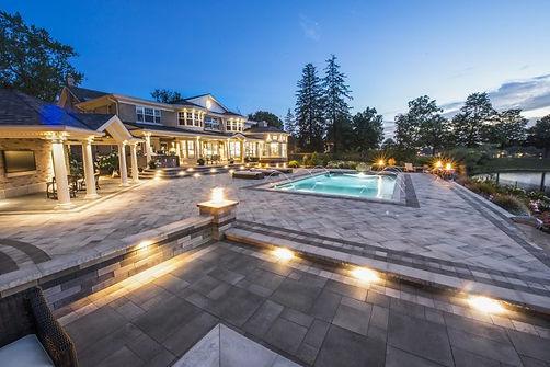 Unilock Umbriano paver pool deck