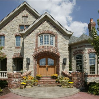 Rustic Cleft Stone Home