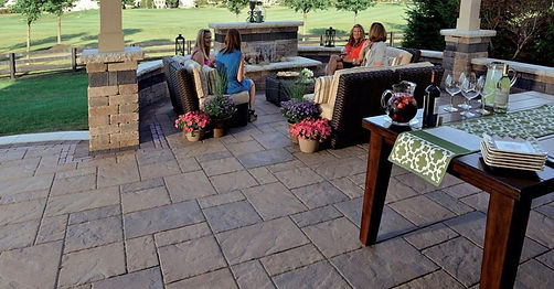 Beacon Hill Flagstone Unilock Paver Patio Tulsa