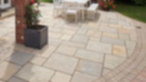 Old Morgan Town stone paver backyard patio Tulsa