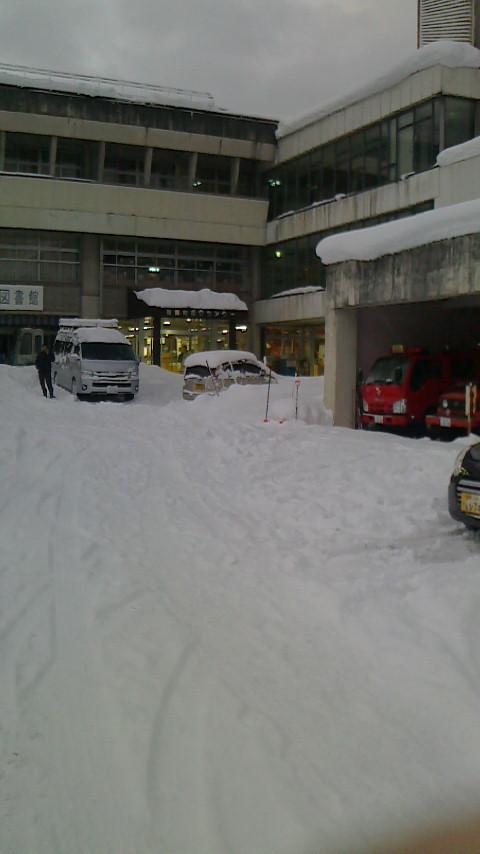 避難所となった鳥取県八頭郡智頭町総合センター