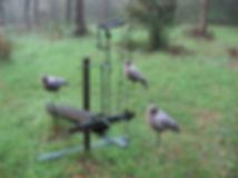 cadre et mécanique pour chasse a la palombe