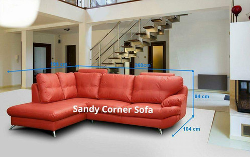 Sandy Corner Sofa Comfy And Stylish These Sofas Will Liven Up Any Room Faux Leather For Easy Cleaning Available In Red Black Excellent Quality