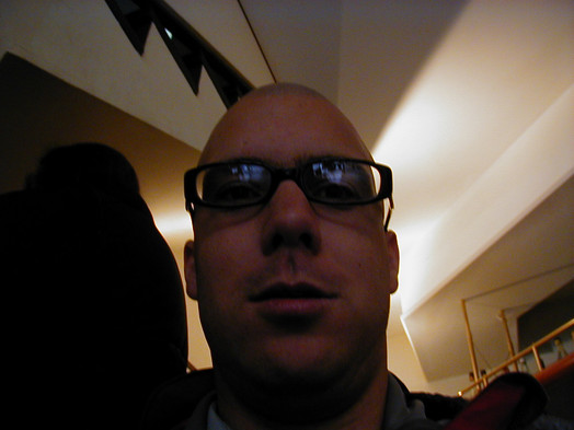 Ryan with Sanna's glasses