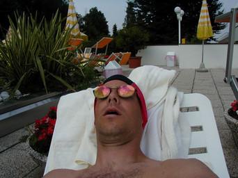 Ryan bathing in the sun