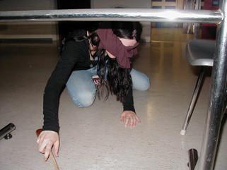 Melanie tries to find the pot