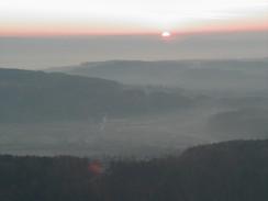 Sunset over Zurich