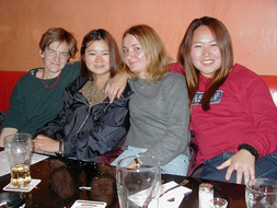 Eva, Kaori, Caroline and Haeyoung