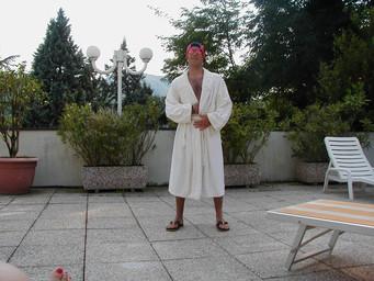 Ryan GQ'ing poolside
