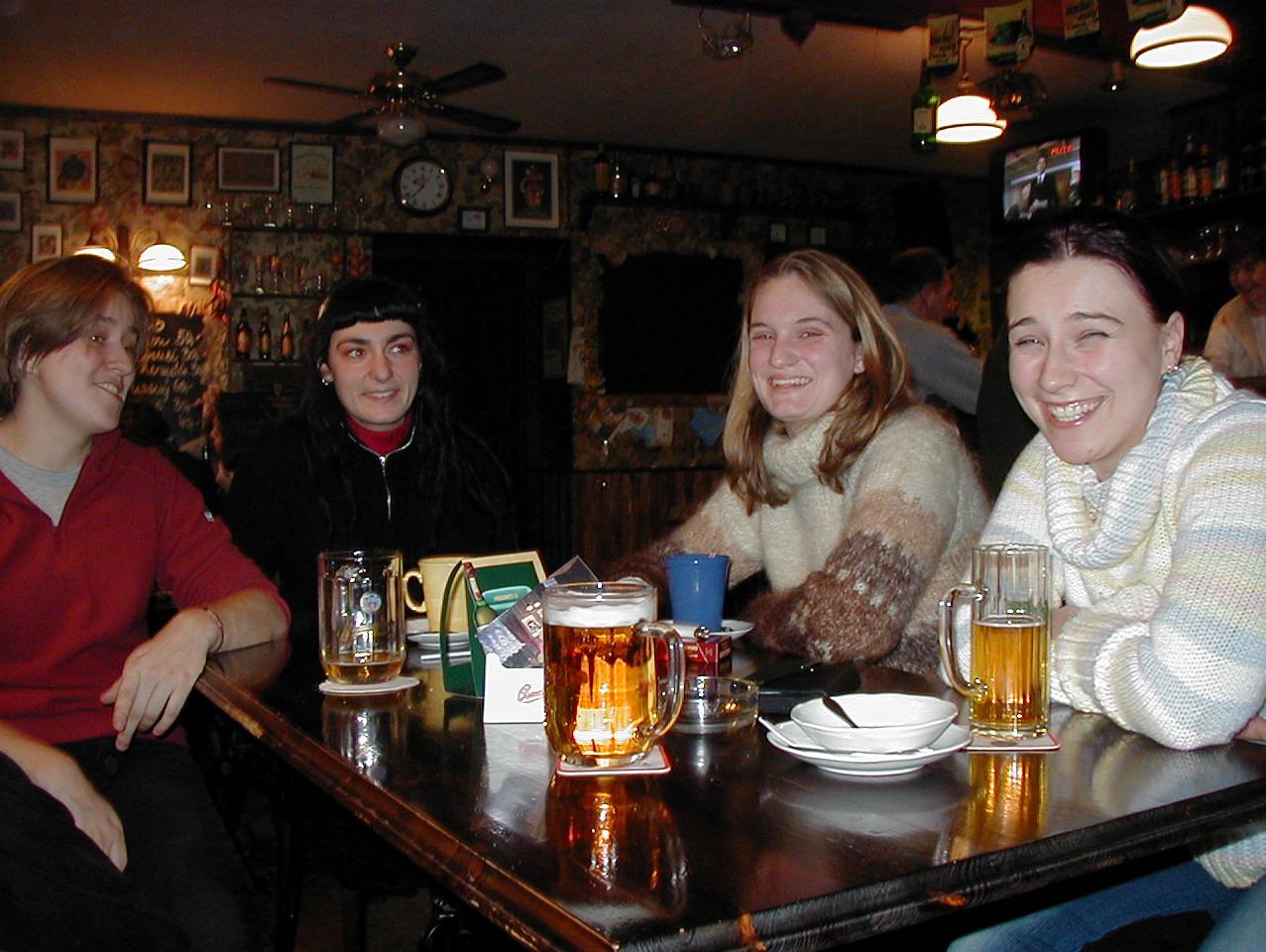 After leaving my volunteer project during the month of December, Ursula made me promise that I would return to Broumov, before I left Europe all together.  Here we are at the now world famous Corner Bar in Broumov the evening before I make my way back to Praha to catch my flight back to California.