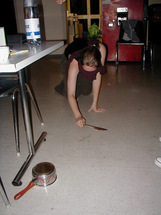 Charlotte tries to find the pot