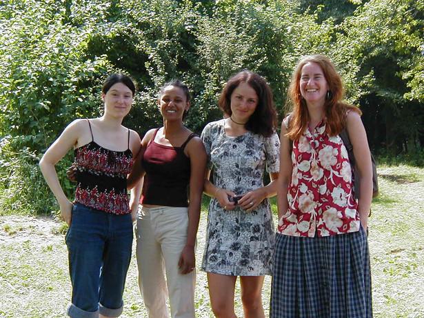 Melanie, Wenete, Luiza and Annemike