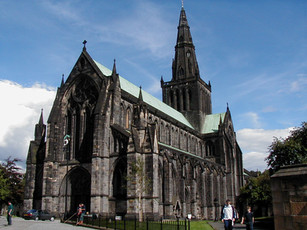 Front of the Glasgow Cathedral