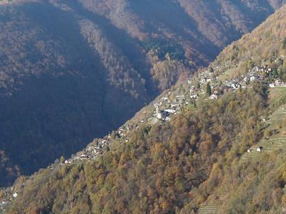 Village across the valley: Berzona, Switzerland
