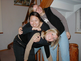 Caroline, Haeyoung and Alessia