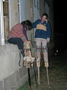 Marie and Melanie get ready for another walk