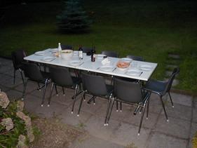 Prison dinner table